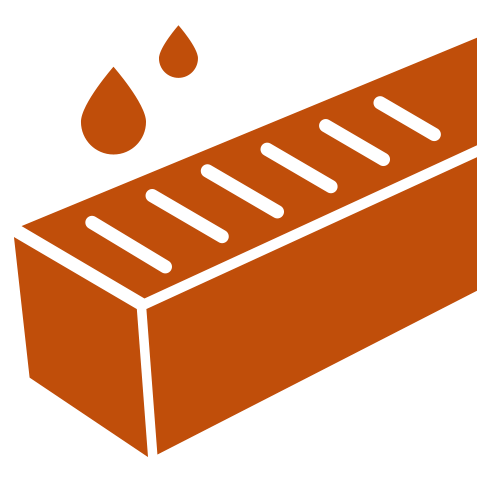 Betonnen afwateringsgoten