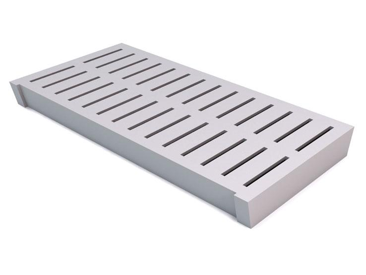 Slats with vertical slots