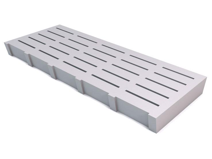 Slats with horizontal slots