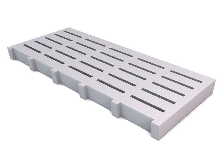 Reinforced plate grid
