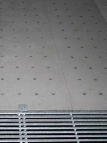 Conical holes in concrete slat