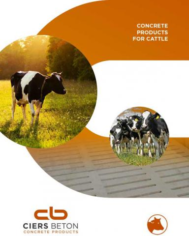 Concrete products for cattle
