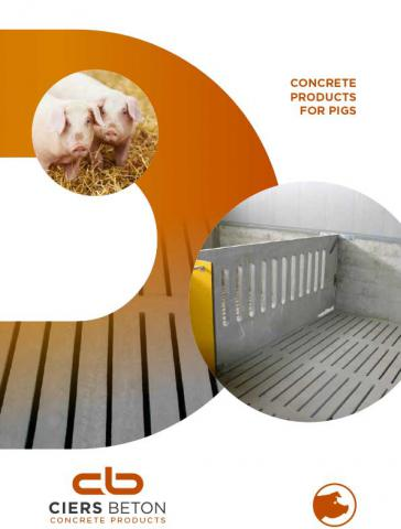 Concrete products for pigs