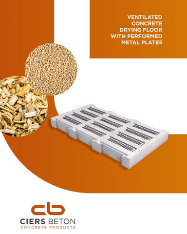 Ventilated concrete drying floor