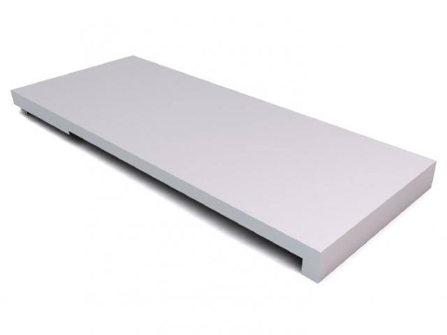 Afgewerkte ligboxplaten (mestgleuf)